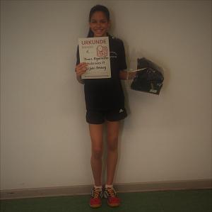 Kreisranglistensiegerin Tamara Kagelmacher